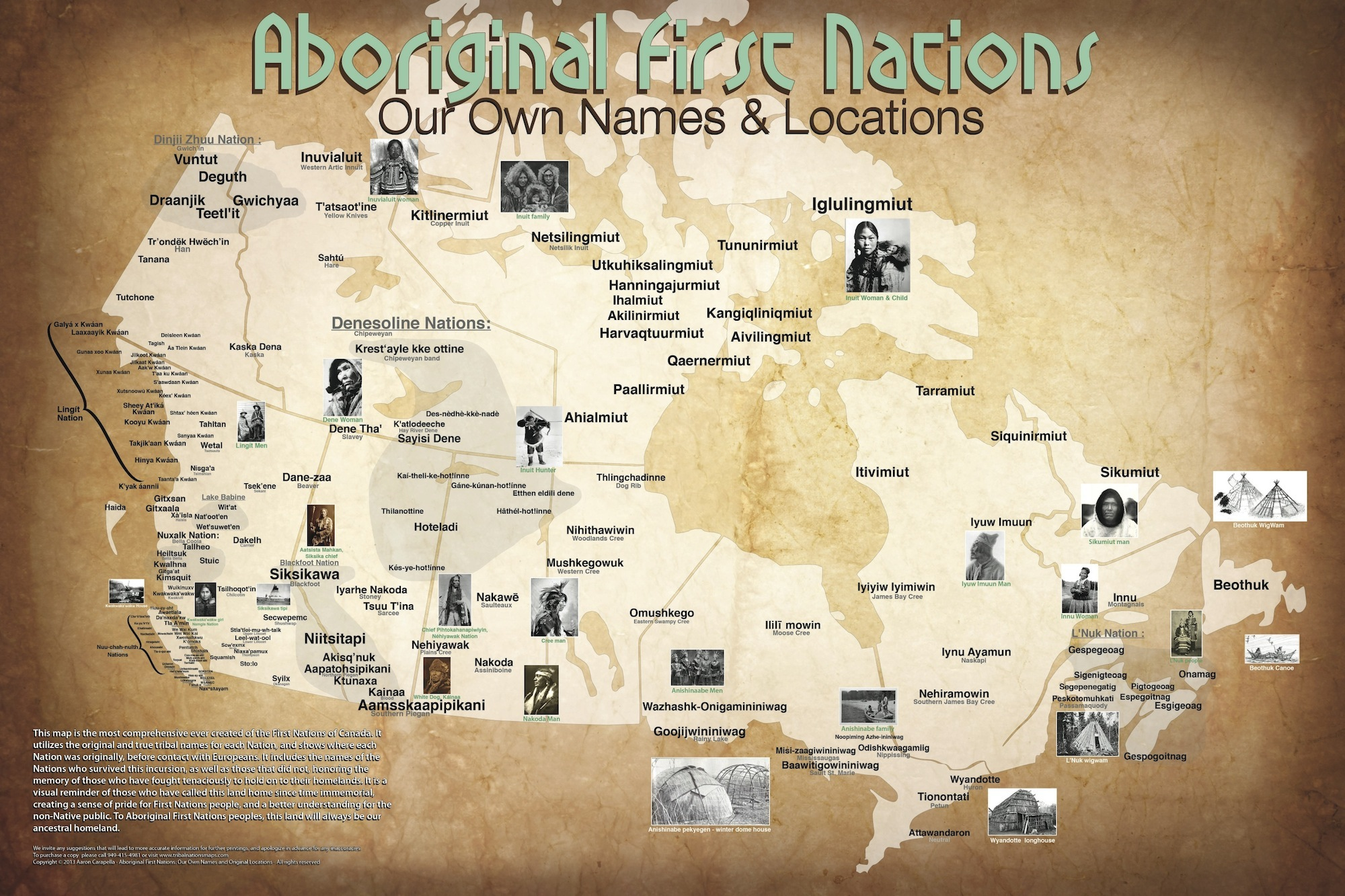First Nations Map Of Canada Map maker provides pre contact look of Canada | Ammsa.com