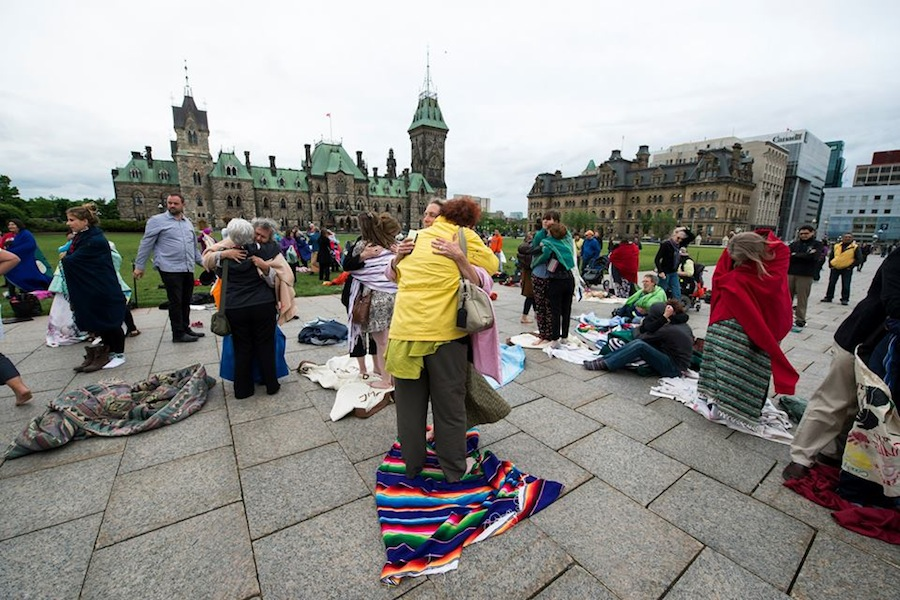 Photos from 2015 Blanket Exercise on Parliament Hill
