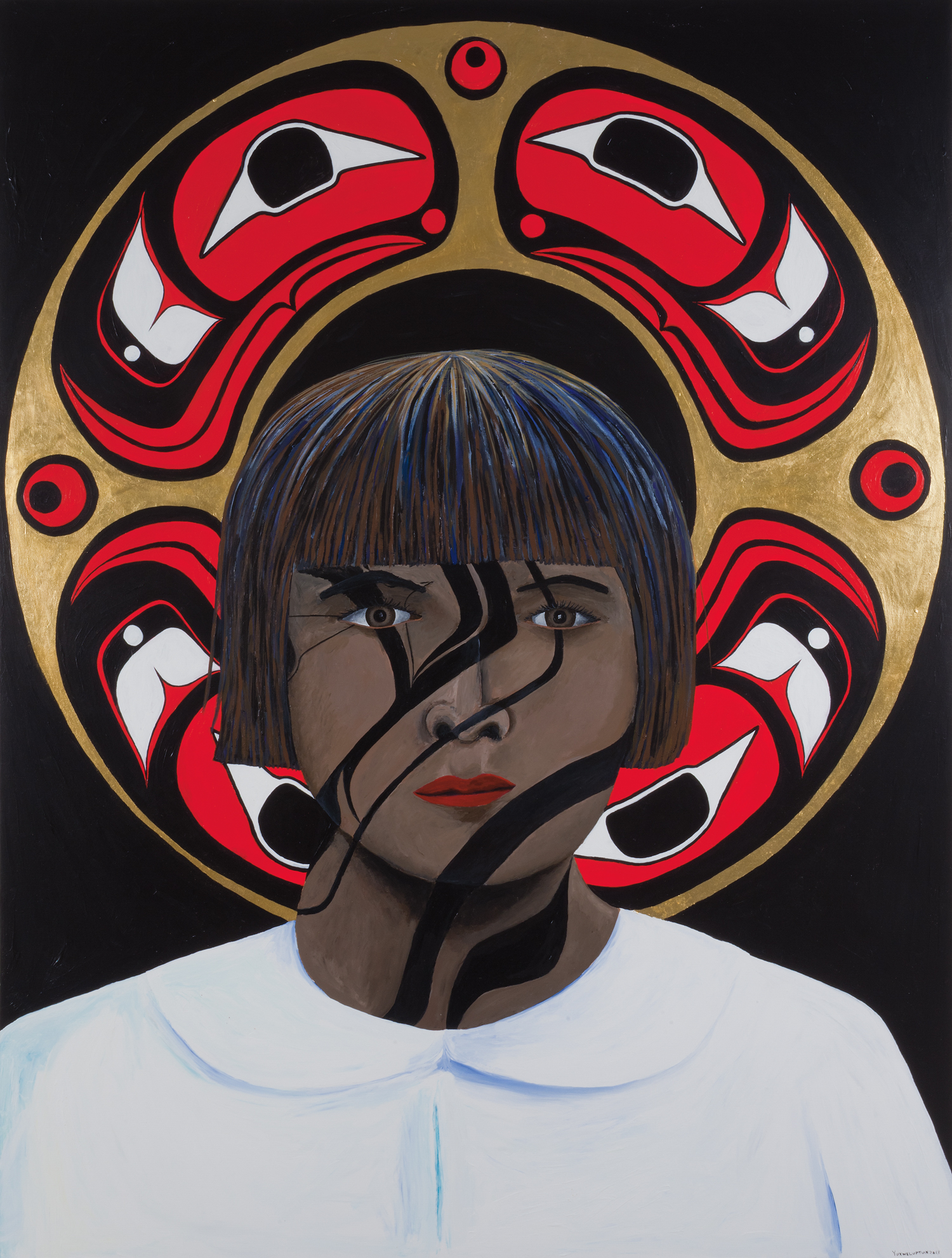 Portrait of a Residential School Girl by Lawrence Paul