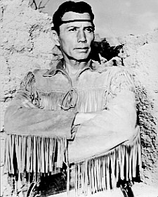 Jay Silverheels as Tonto from the Lone ranger TV series