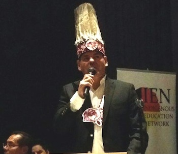 Ontario Regional Chief Isadore Day at fundraising event for Standing Rock in Tor