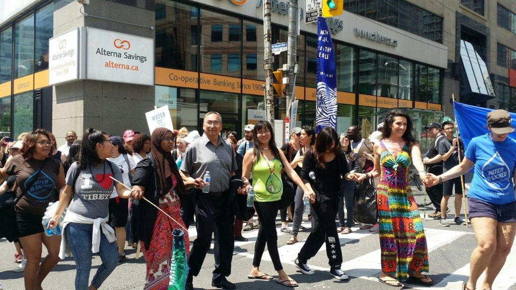 In Toronto June 2 for the march for justice for Grassy Narrows First Nation.