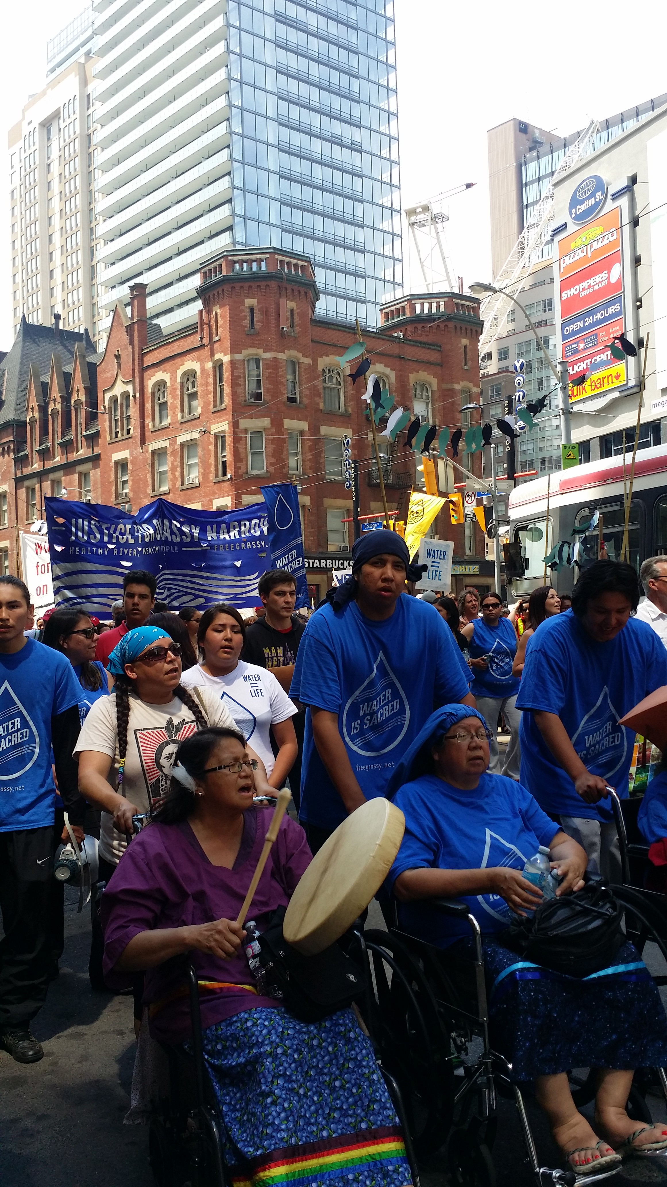 Grandmothers and youth lead the march for justice for Grassy Narrows FN