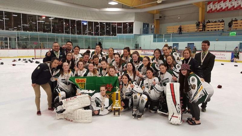 Saskatchewan girls' team, which edged the host Ontario squad 1-0 at NAHC