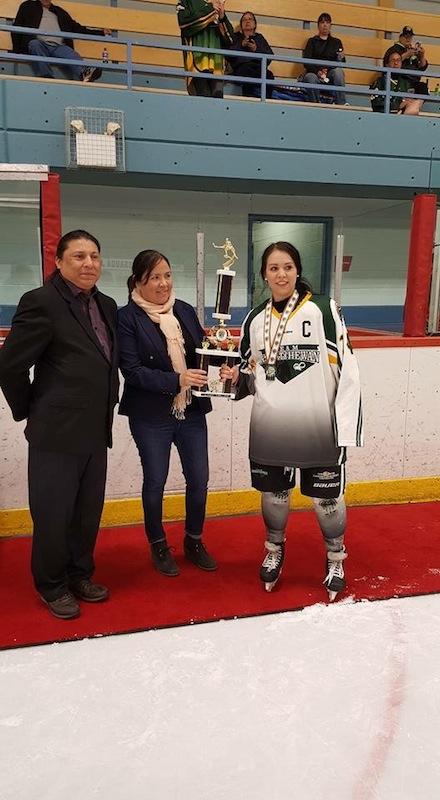 Delaney Ross - the captain of the Saskatchewan