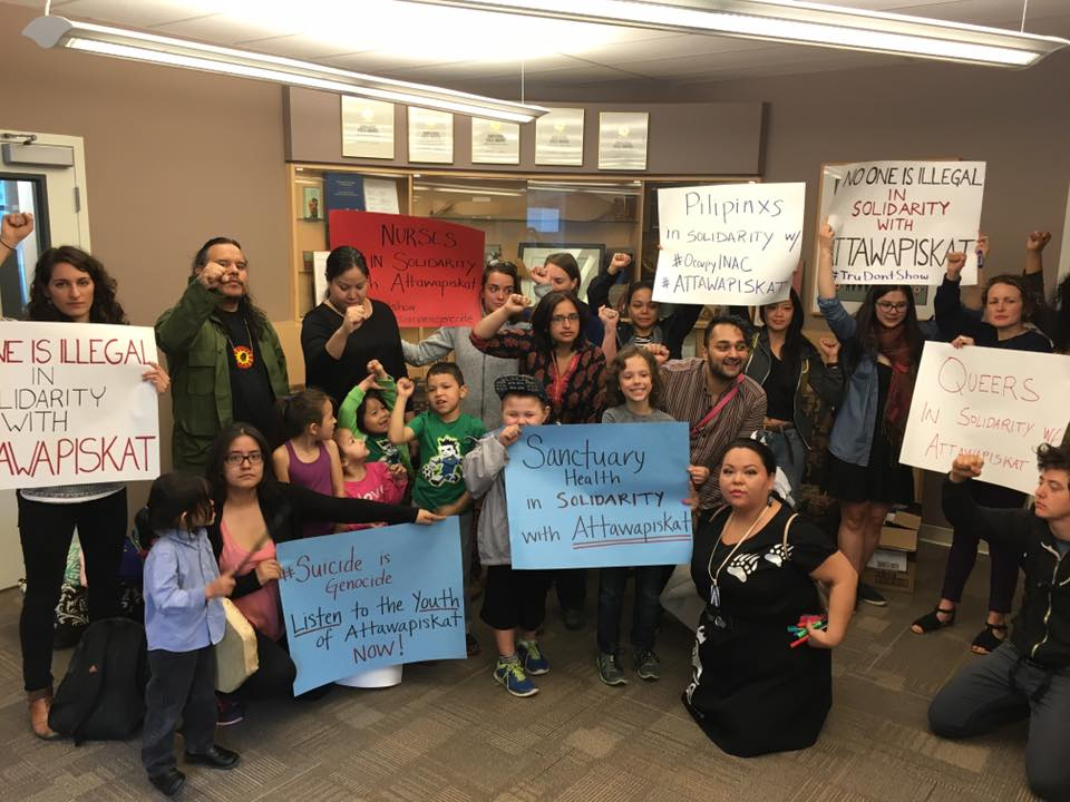 Protest at Vancouver's INAC offices April 21