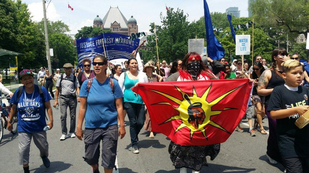 In Toronto June 2 for the march for justice for Grassy Narrows First Nation.In T