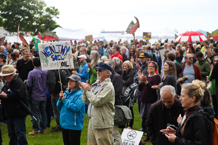 Anti-pipeline rally Vancouver May 10, 2014
