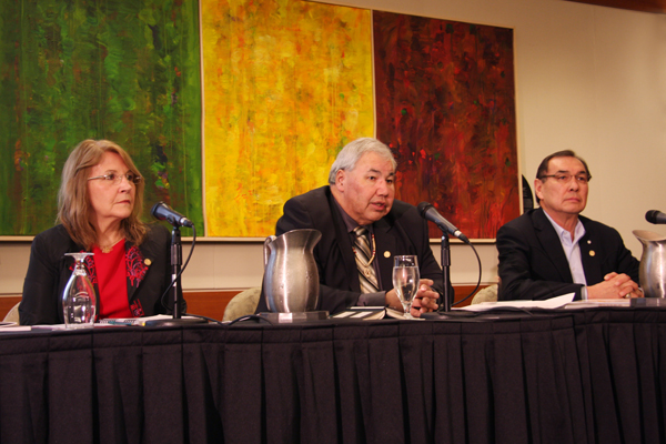 TRC Commissioner Marie Wilson, TRC Chair Justice Murray Sinclair, TRC Commission