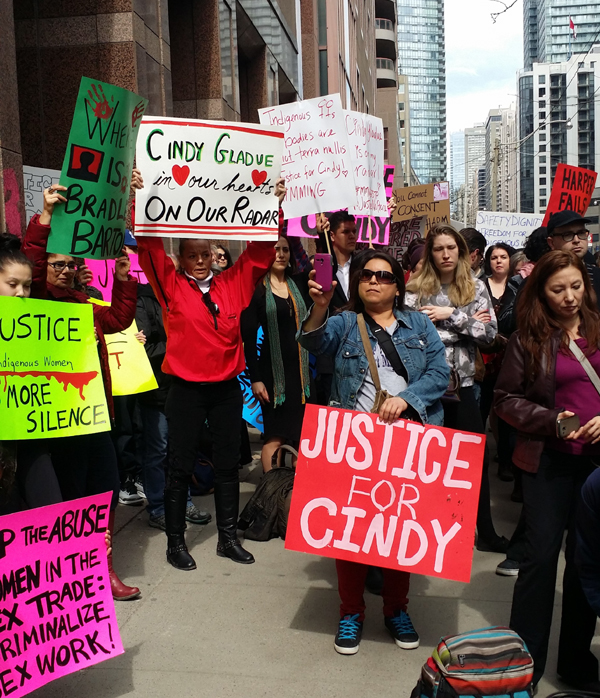 Rally in support of Cindy Gladue Toronto