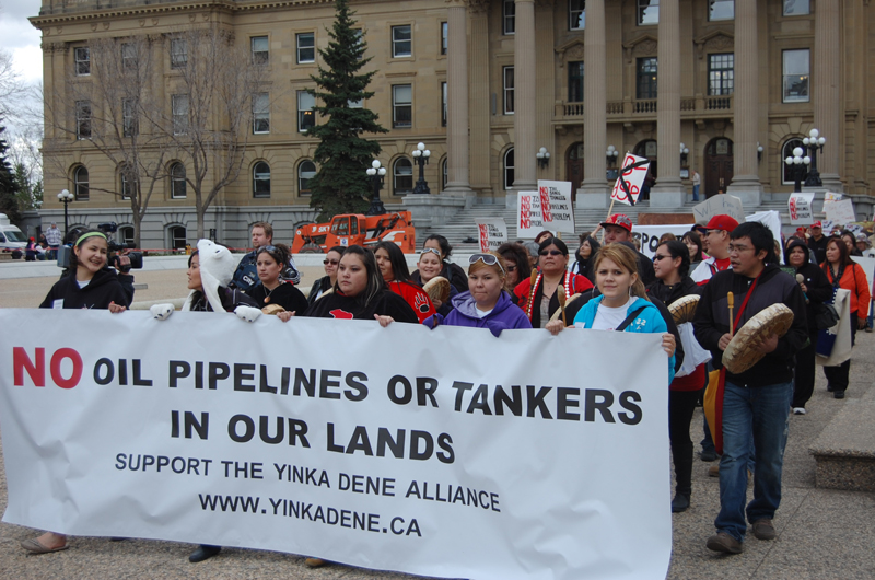 Pipeline protest at Alberta Legislature in Edmonton