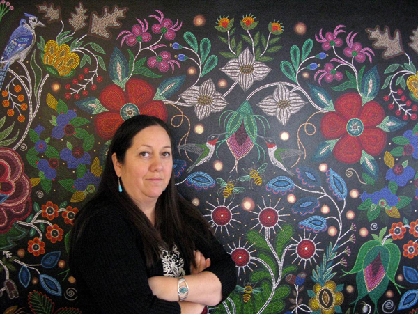 Artist Christi Belcourt, coordinator of Walking With Our Sisters