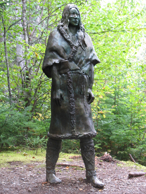 The Spirit of the Beothuk statue, created by Gerald Squires and cast by Luben Bo