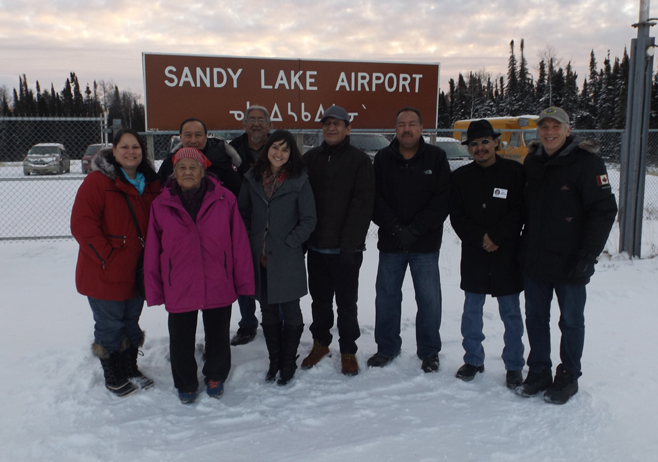 Members of the Sandy Lake First Nation gathered at the Youth Centre on Nov. 13