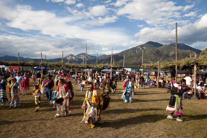 An intertribal dance at the Taos Pueblo Powwow. (Photo provided)