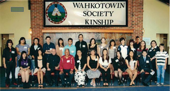 Last year's Wahkotowin Society award recipients.
