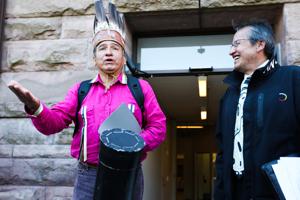 Chief Dean Sayers of Batchewana First Nation and Sagamok Anishinawbek First Nati