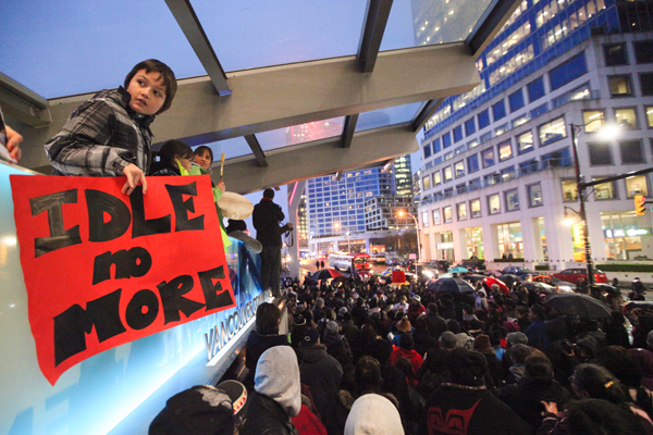Youth participates in Idle No More rally in Vancouver