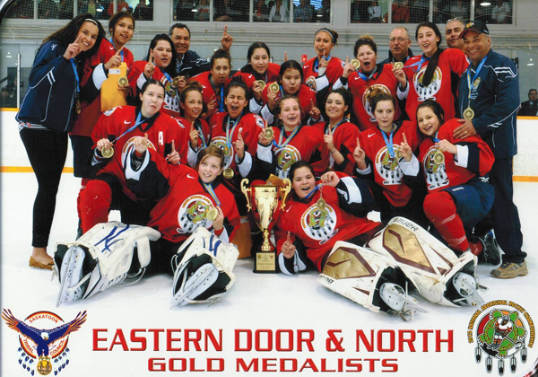 Girls gold medalists Eastern Door and the North