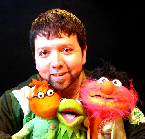 Lance Cardinal with some Muppets.