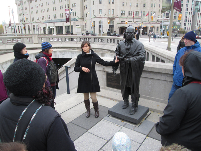 Jaime Koebel, a Métis artist and educator, with a tour stops at the Joseph Brant