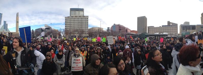 Idle No More rally Edmonton Dec. 10