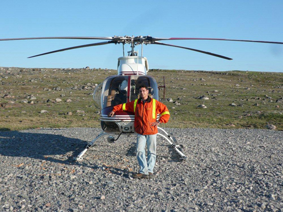 Helicopter pilot and business man Michael Kleywegt is grateful for the education