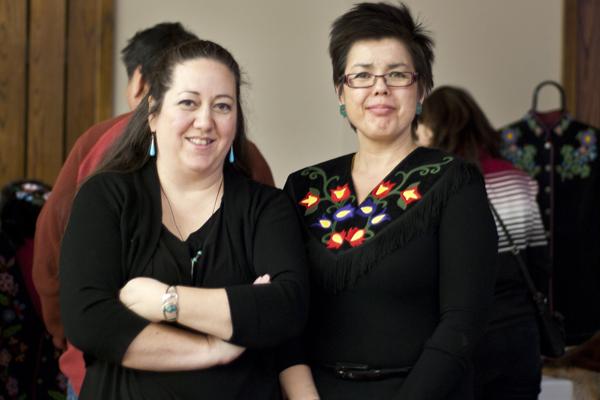 Artist Christi Belcourt and Deborah Young, Executive Lead Indigenous Achievement