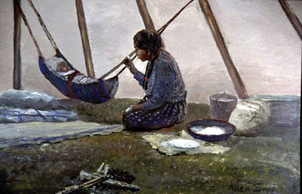 Allan Sapp painting