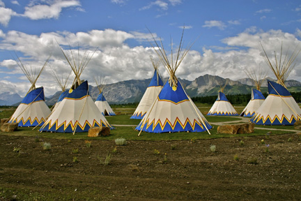 Stoney Nakoda Resort and Casino tipi park a place to honour the past, educate, a