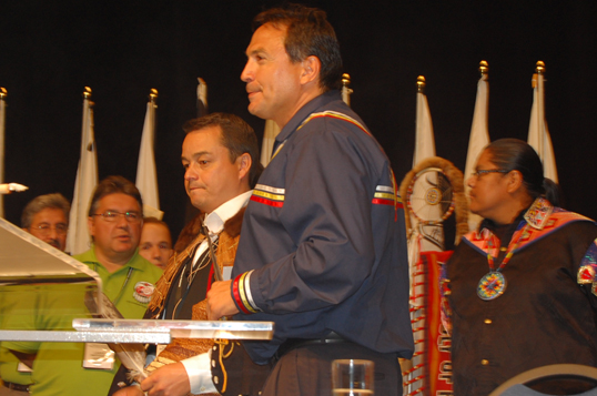 Perry Bellegarde with Shawn Atleo in 2009