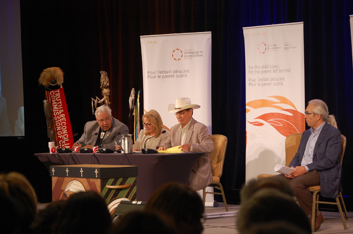 TRC Commissioners with Phil Fontaine