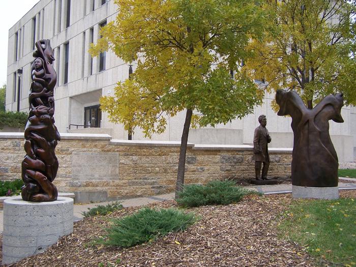 Statues at University of Manitoba