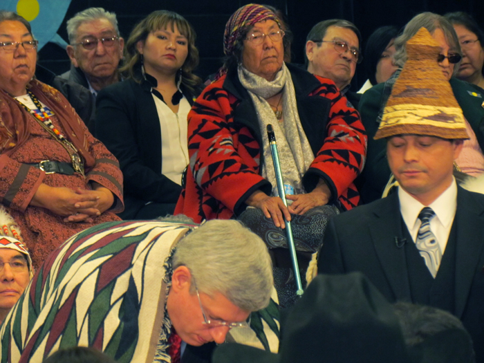 PM Stephen Harper with Shawn Atleo