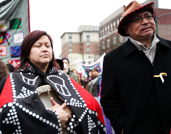 Shelley Joseph of Reconciliation Canada and Steven Point (right),