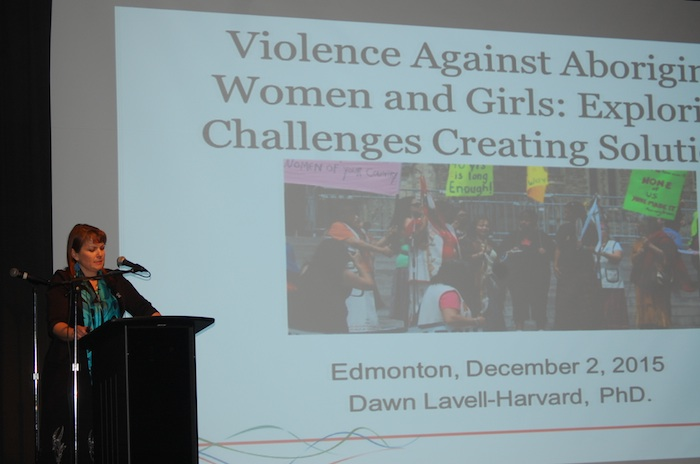 Native Women's Association of Canada president Dawn Lavell-Harvard